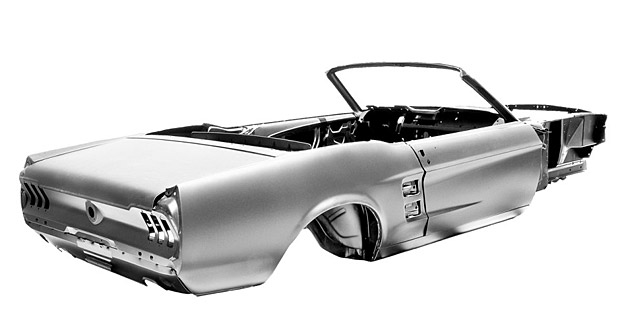 Ford-Licensed 1967 Mustang Convertible Body Shell at werd.com