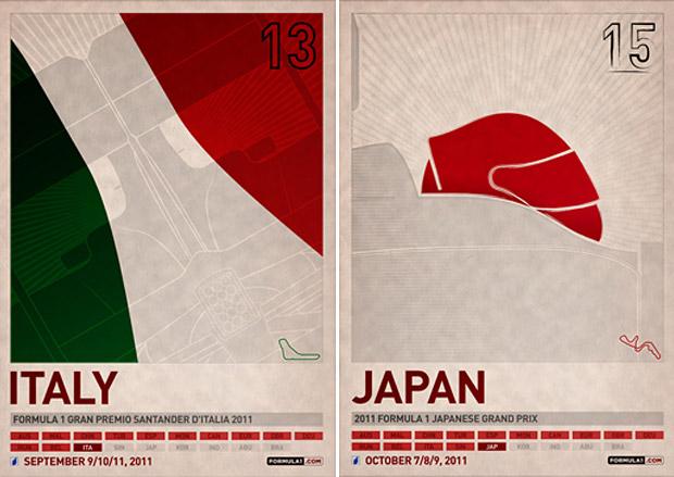 Formula 1 Grand Prix Posters at werd.com