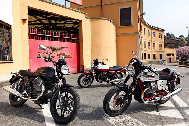 2013 Moto Guzzi V7 Range at werd.com