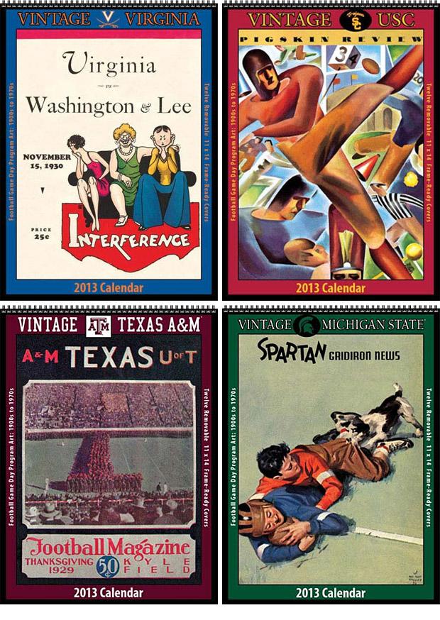 2013 Vintage College Football Calendars at werd.com