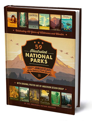 59 Illustrated National Parks: 100 Years of Wilderness & Wonder at werd.com