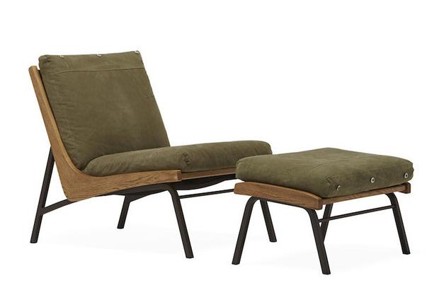 Boomerang Chair & Ottoman at werd.com