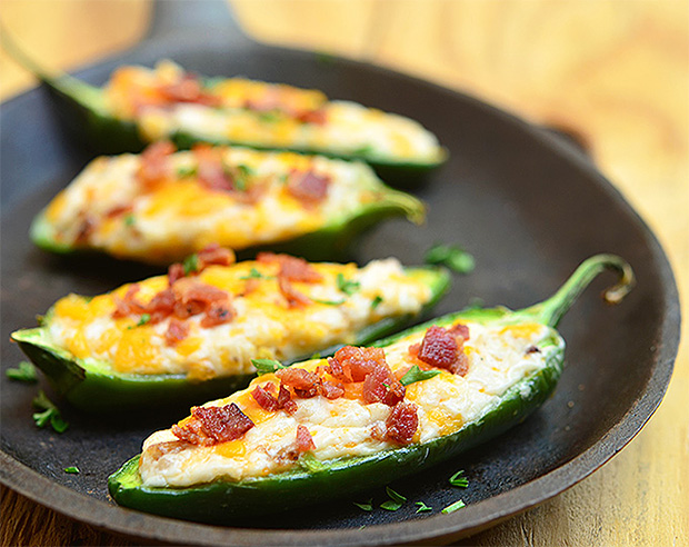 Cheese-Stuffed Jalapeño Poppers at werd.com