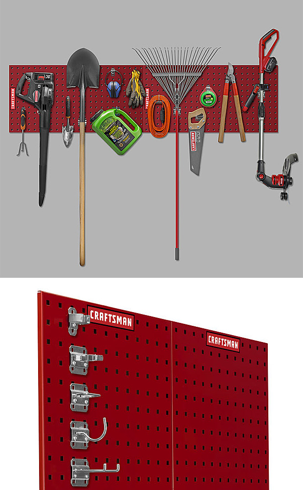 Craftsman Heavy-Duty Locking Pegboard System at werd.com