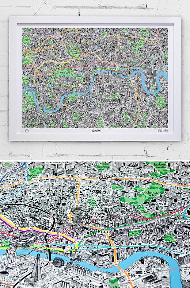 Hand Drawn City Maps at werd.com