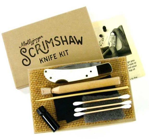 Heirloom Scrimshaw Knife Kit at werd.com