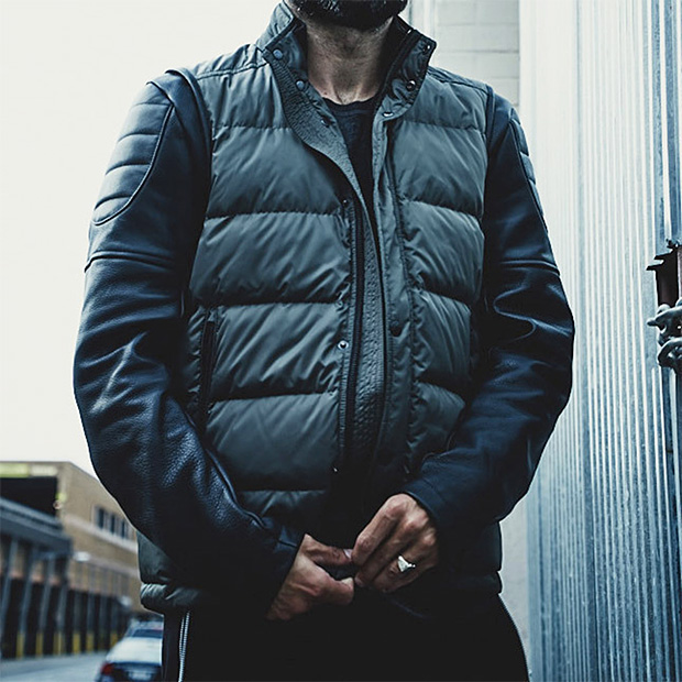ISAORA Combo Down Moto Jacket at werd.com