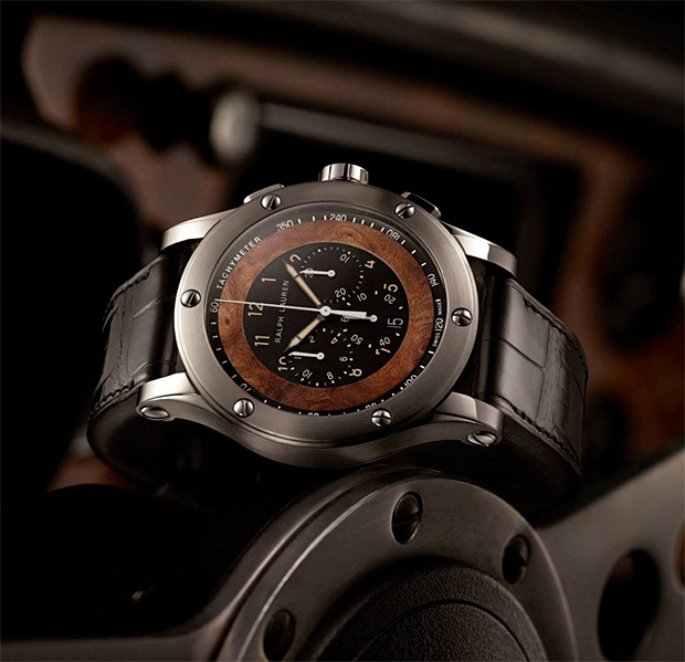 Ralph Lauren Automotive Collection Steel Calfskin Watch at werd.com