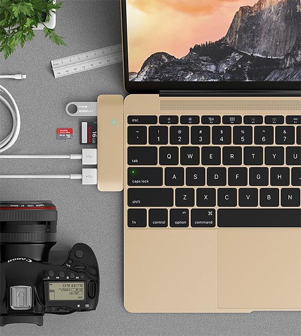 Satechi Type-C Hub for MacBook at werd.com
