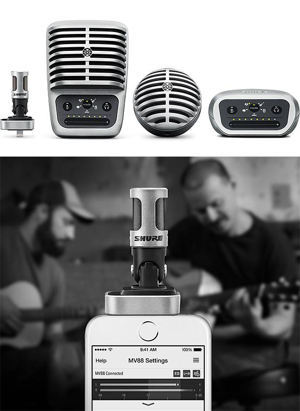 Shure MOTIV Digital Microphones at werd.com