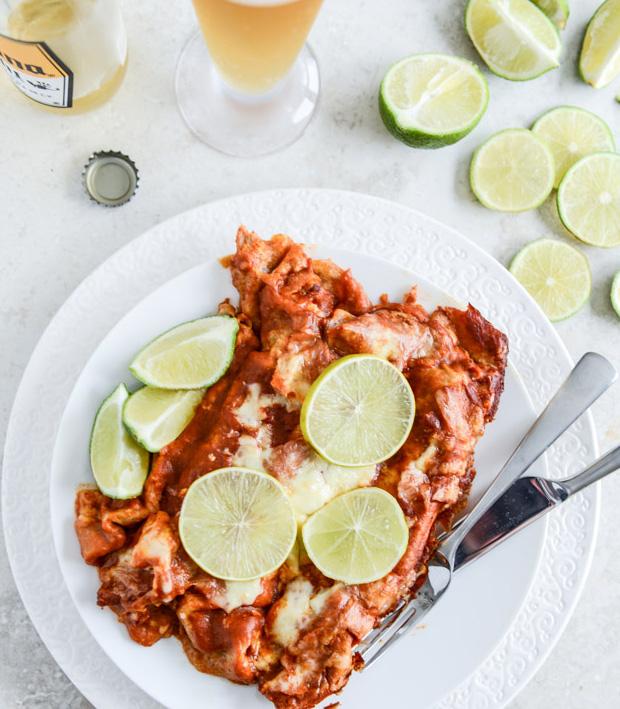 Spicy Beer Braised Lime Chicken Enchiladas at werd.com