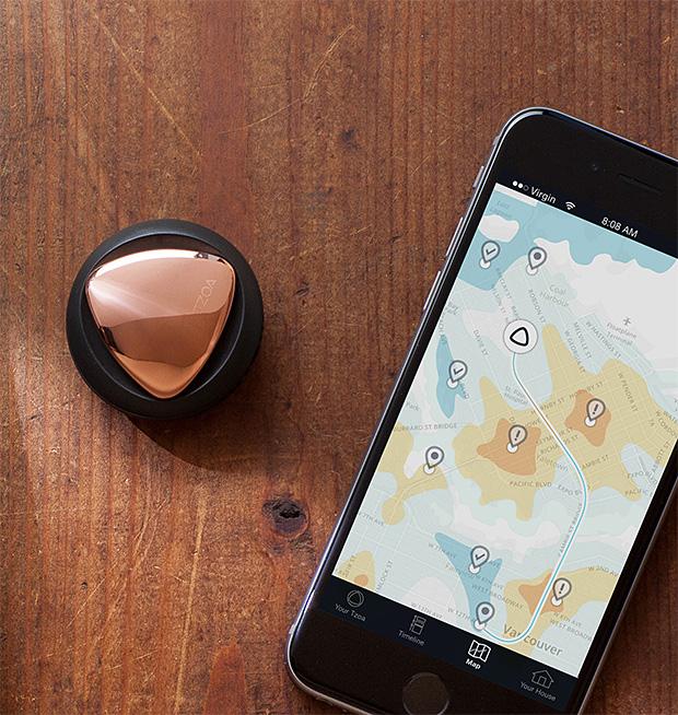 Tzoa Wearable Enviro-Tracker at werd.com