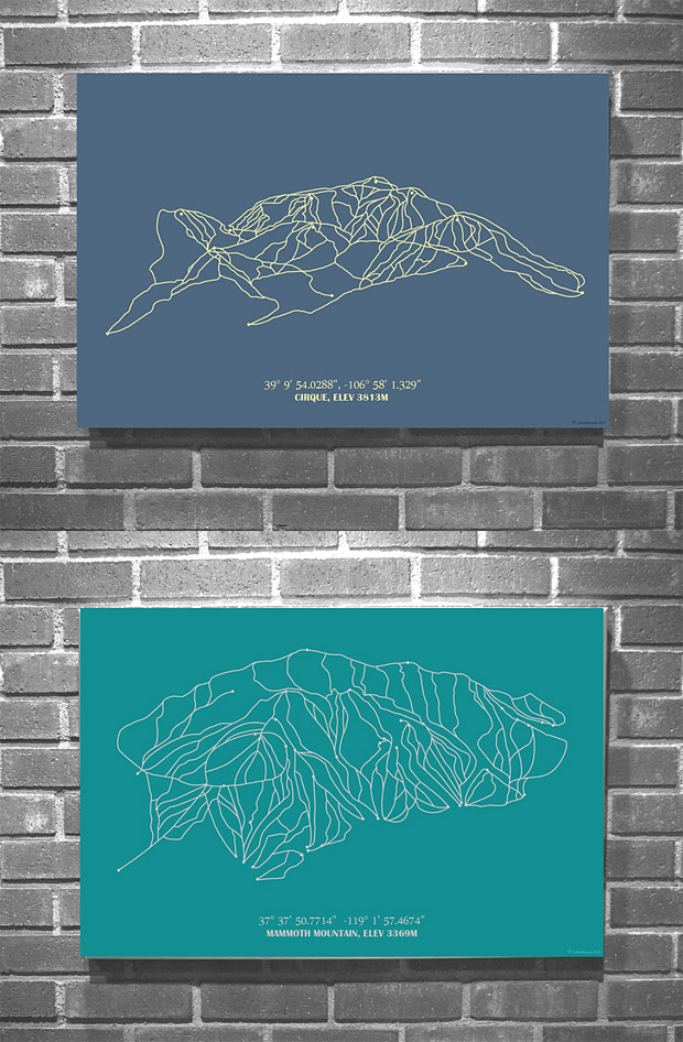 American Ski Resort Mountain Prints at werd.com