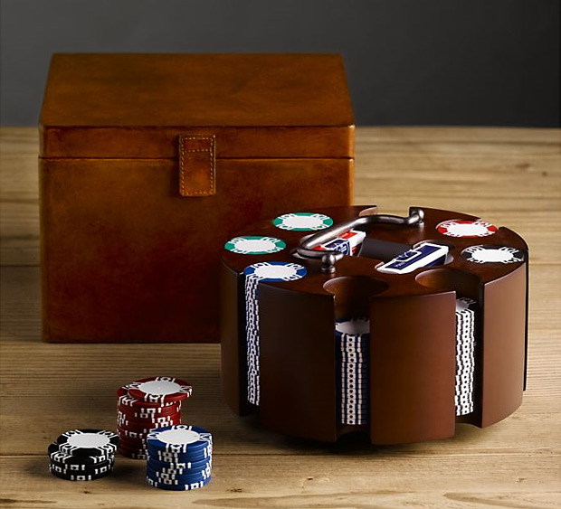 Artisan Leather Poker Set at werd.com