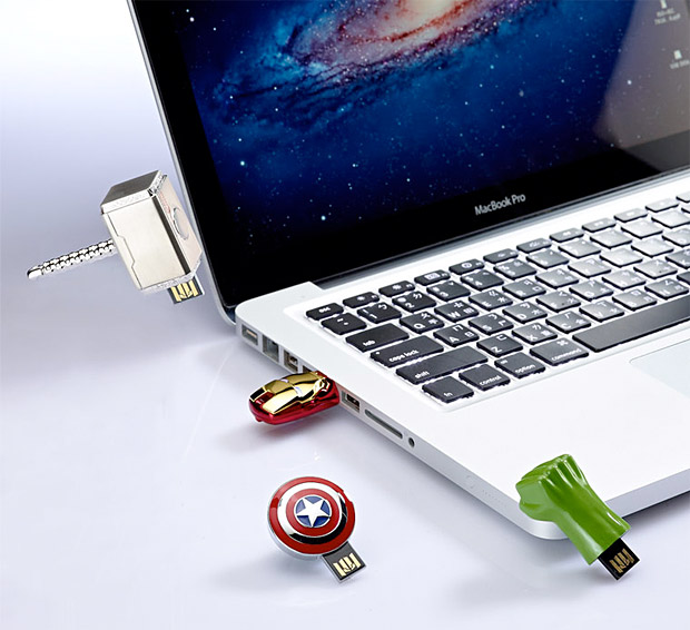 The Avengers USB Flash Drives at werd.com