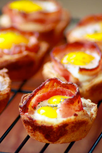 Bacon &#038; Egg Toast Cups at werd.com