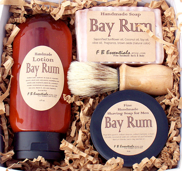 Bay Rum Men&#8217;s Shaving Set at werd.com