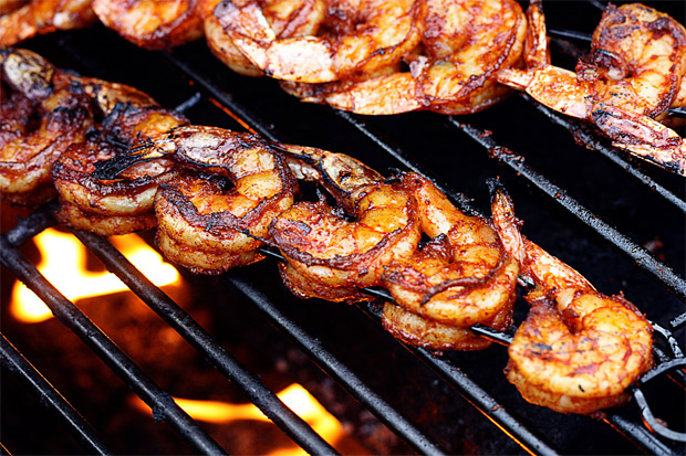 Barbeque food shrimp