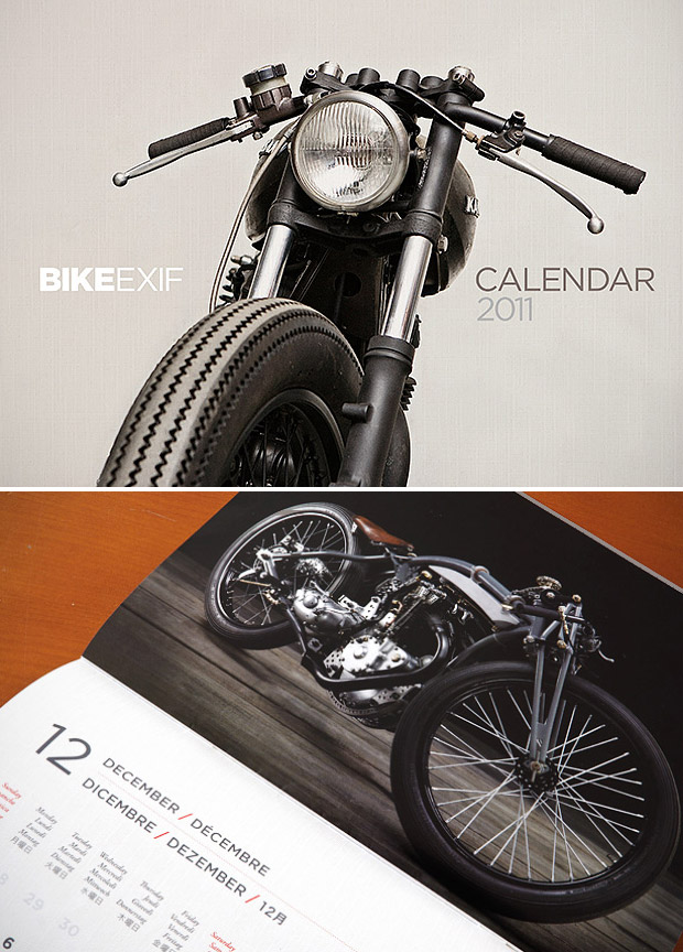 2011 Bike EXIF Calendar at werd.com