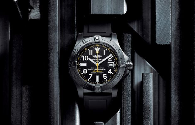 Breitling Avenger Seawolf Blacksteel Code Yellow at werd.com