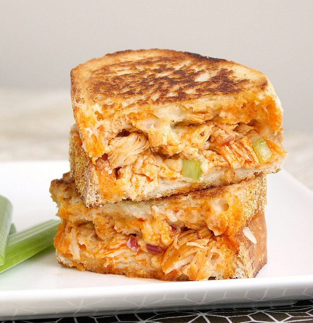 Buffalo Chicken Grilled Cheese at werd.com