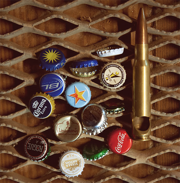 50 Caliber Bullet Bottle Opener at werd.com