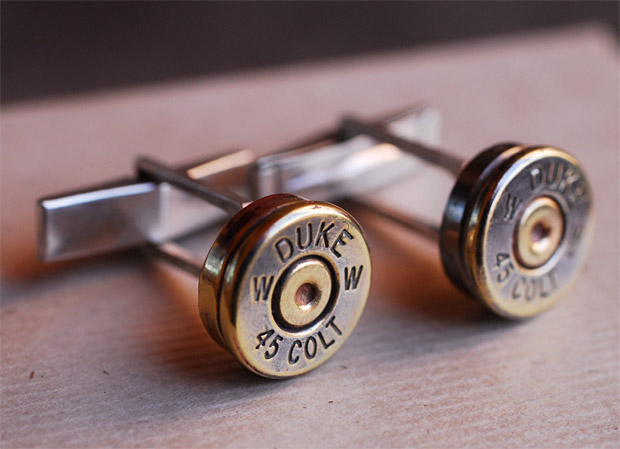 Bullet Cufflinks at werd.com