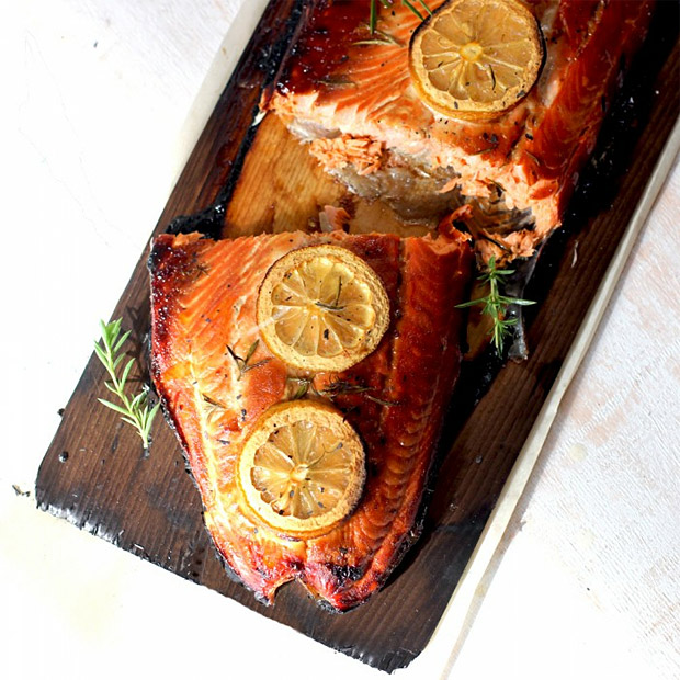 Cedar Plank Grilled Salmon at werd.com