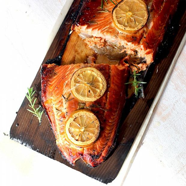 Cedar Plank Grilled Salmon at werd.com