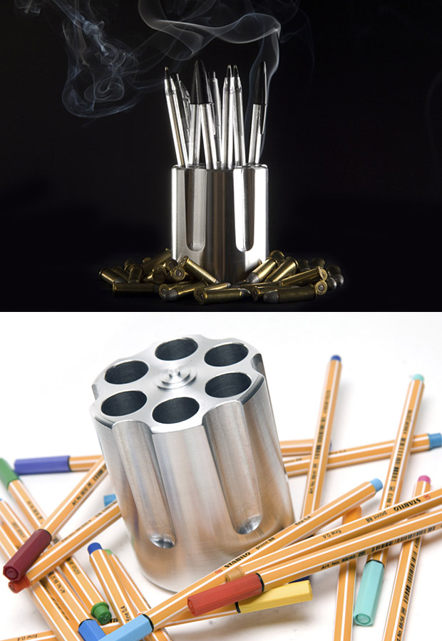 Choose Your Bullets Pen Holder at werd.com