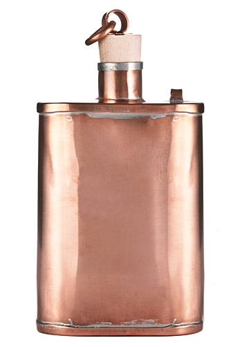 Handmade Copper Flask at werd.com