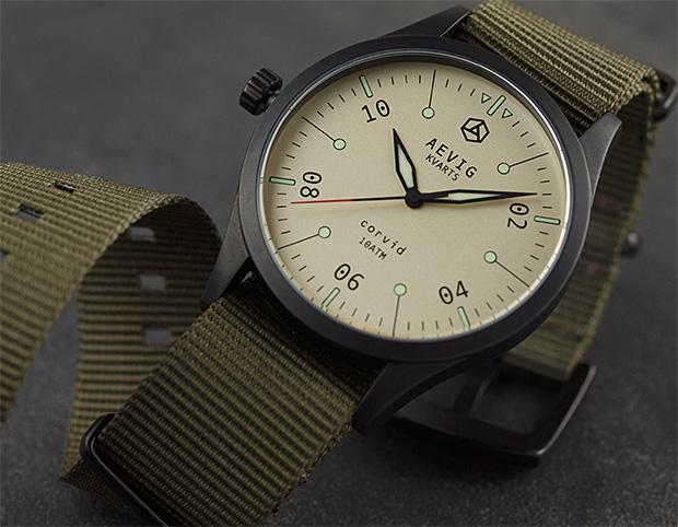 Aevig Corvid Field Watch at werd.com