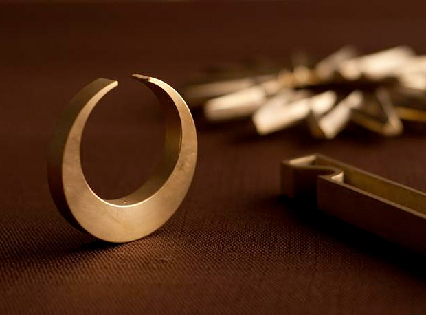 Crescent Brass Bottle Opener at werd.com