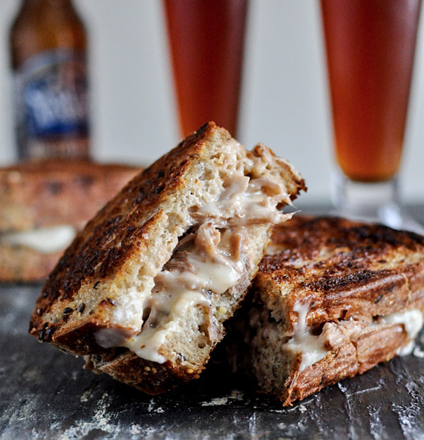 Crockpot Pulled Pork and Beer Cheese Grilled Sandwiches at werd.com