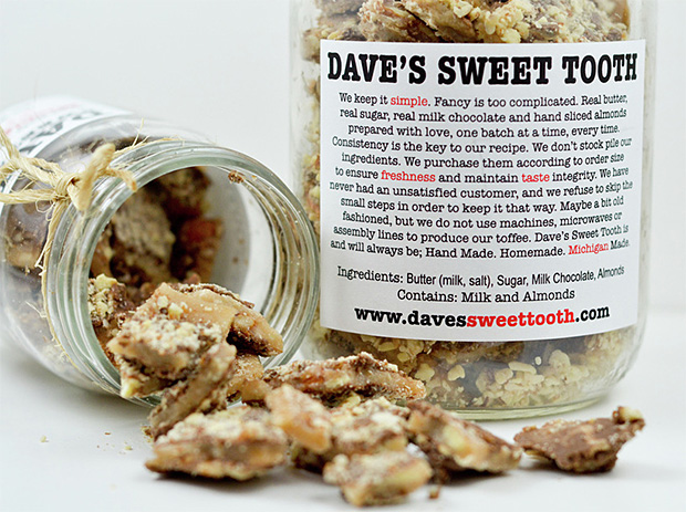 Dave's Sweet Tooth Toffee at werd.com