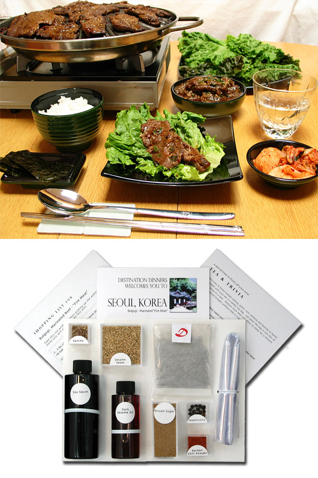 Destination Dinner Recipe Kits at werd.com