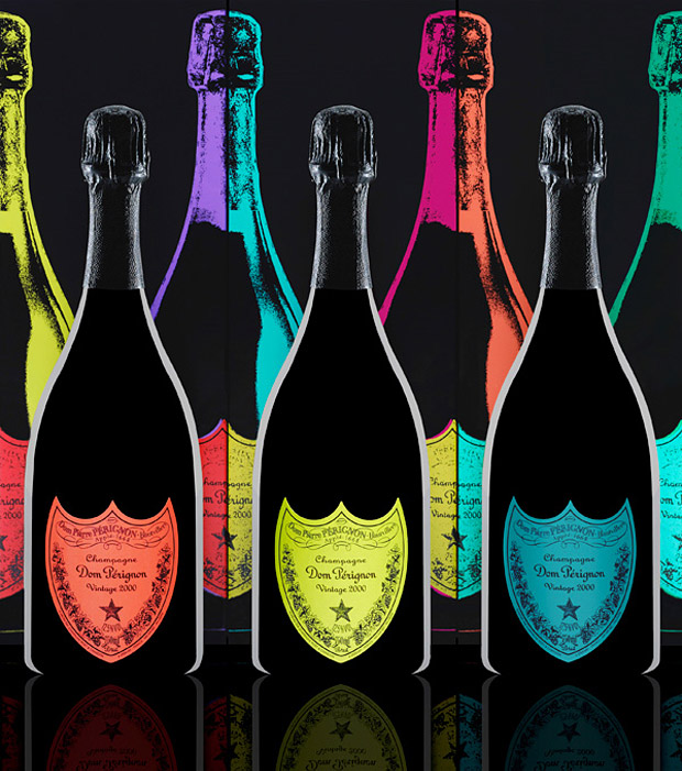 Dom Perignon x Andy Warhol Tribute Bottles at werd.com