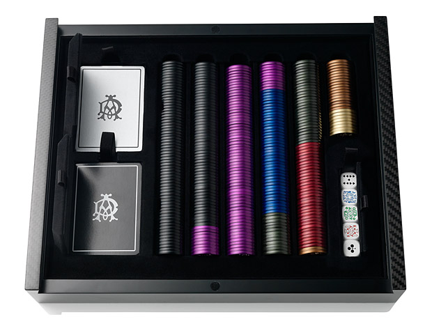 Dunhill Carbon Fiber and Aluminium Poker Set at werd.com