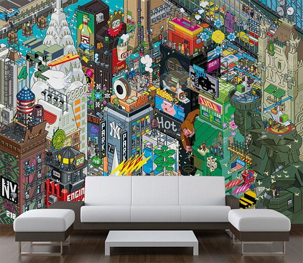 eBoy Collection NYC Wallpaper at werd.com