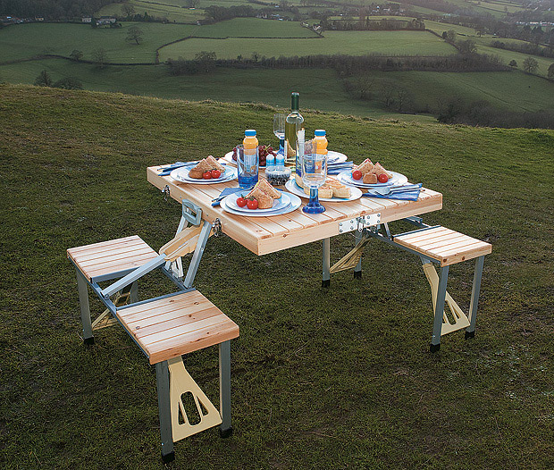 Tailgate Folding Wooden Picnic Table at werd.com
