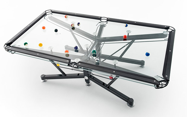 The G-1 Glass Top Pool Table at werd.com