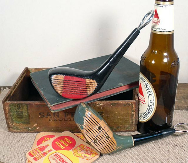 Vintage Golf Club Bottle Opener at werd.com