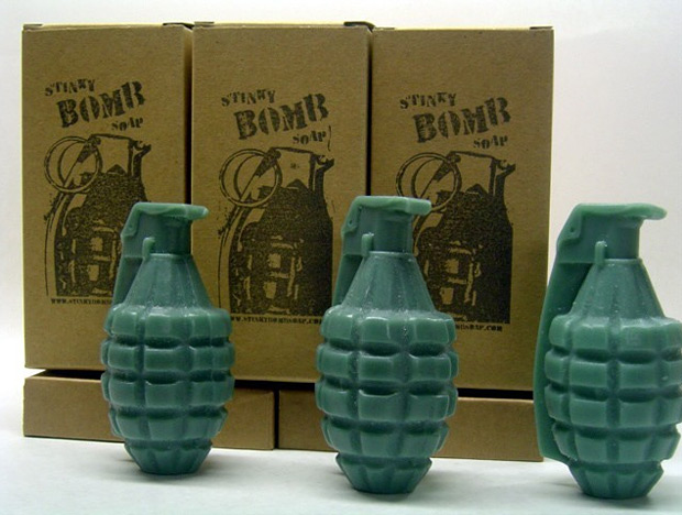StinkyBomb Hand Grenade Soap at werd.com