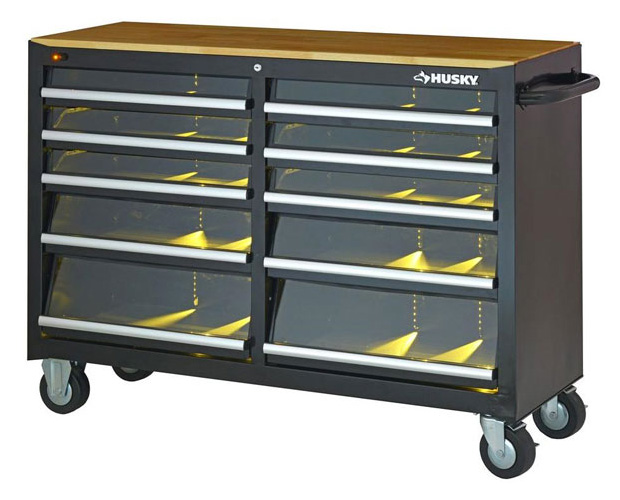 Husky Tool Cabinet with LED-Lit Drawers at werd.com