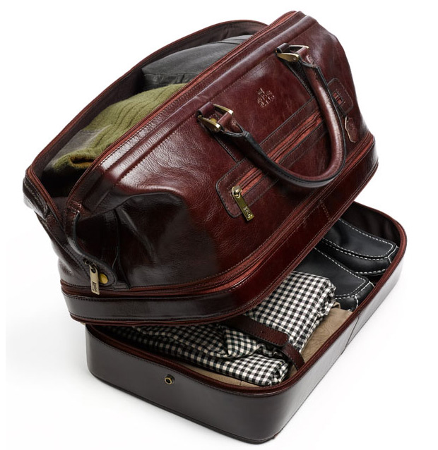 Indiana Leather Adventure Duffel at werd.com