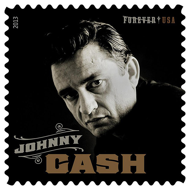 Johnny Cash Postage Stamp at werd.com