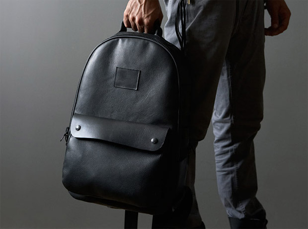 Killspencer Black Leather Utility Backpack at werd.com