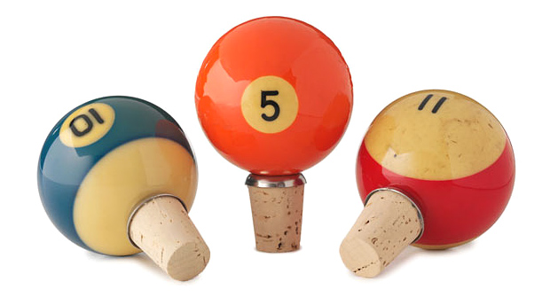 Vintage Pool Ball Wine Bottle Stopper at werd.com