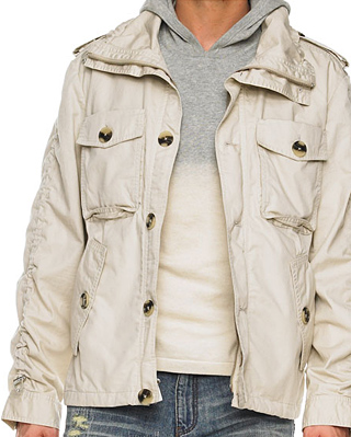 Michael Kors Twill Officer Jacket at werd.com