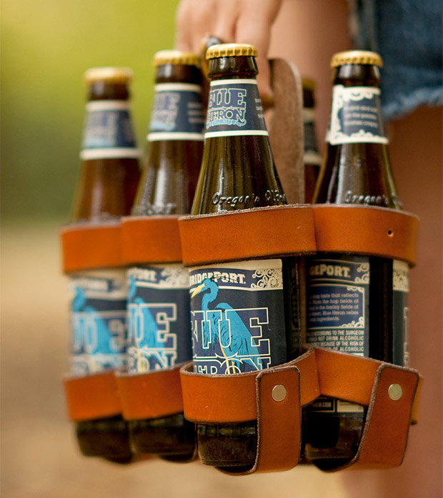 Leather Beer Carton at werd.com